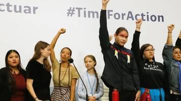 UN-Klimagipfel: Thunberg und Neubauer ermutigen Klimaaktivisten in Madrid