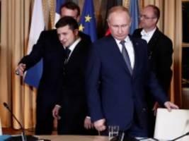 Ukraine-Gipfel: Darauf haben sich Putin und Selenskij geeinigt