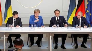 ostukraine hofft auf frieden: putins banditen-spruch überschattet ukraine-gipfel in paris