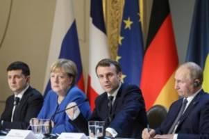 Nach langen Gipfel-Debatten: Macron sieht Fortschritte nach Ukraine-Gipfel in Paris