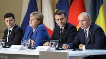 ukraine-gipfel in paris: waffenstillstand und truppenrückzug
