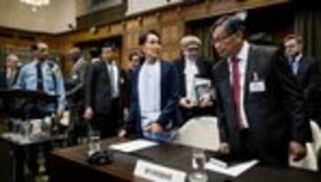 Rohingya-Prozess: Aung San Suu Kyi bestreitet Absicht eines Völkermords