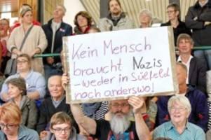 rassismus: die gemeinde sülfeld stellt sich gegen neonazis