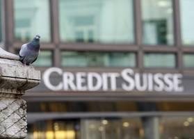 auch credit suisse verliert an schwung - branche in der krise