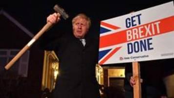 Wahl in Großbritannien: Absolute Mehrheit für Johnsons Tories