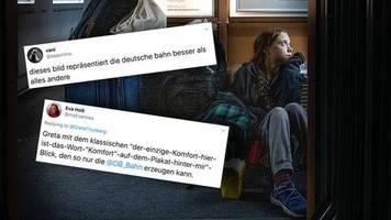 Aktivistin reist auf dem Gang: Klimawandel hin oder her, die Deutsche Bahn hat niemand verdient: Reaktionen auf Gretas ICE-Bild