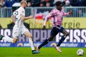 fußball: hsv in ergebniskrise: hinterseer rettet 1:1 in sandhausen