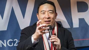 demokraten: tech-unternehmer andrew yang mischt us-vorwahlkampf auf