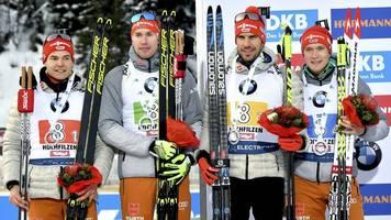 weltcup in hochfilzen: biathlon-männer staffel-zweite - damen in der krise