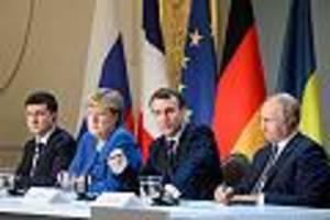 einigung steht aus - nach ukraine-gipfel in paris: gefangenenaustausch mit russland verzögert sich