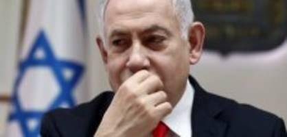 israel: netanyahu muss während auftritt in bunker