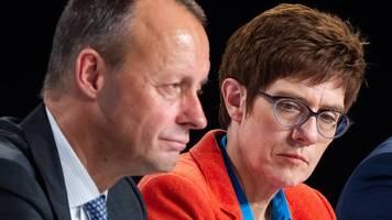 umfrage: deutsche wollen akk nicht als kanzlerin – friedrich merz beliebt
