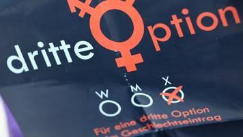 wenige Änderungen zum dritten geschlecht