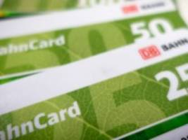 Verkehr: Kunden zahlen weniger für die Bahncard
