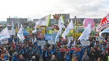 Protest für klimagerechte Landwirtschaft