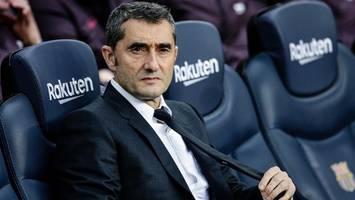 Berichte: FC Barcelona feuert Trainer Ernesto Valverde – Nachfolger soll feststehen