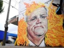 schwere buschbrände: australiens premier entdeckt den klimaschutz - aber nur ein bisschen