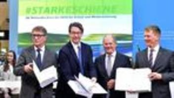 deutsche bahn: bund und bahn wollen 86 milliarden euro in schienennetz investieren