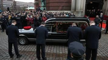 Schauspieler Jan Fedder mit großer Trauerfeier im Hamburger Michel verabschiedet