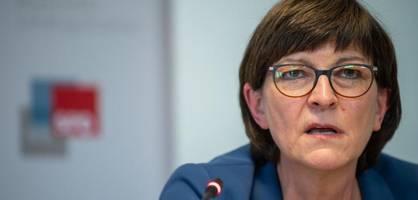 """Steuersenkungen """"gefährlich"""" – Kritik an SPD-Chefin Esken"""