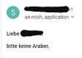 """shitstorm nach rassismus-vorfall - student bewirbt sich bei berliner architekturbüro, die antwort: """"bitte keine araber"""""""