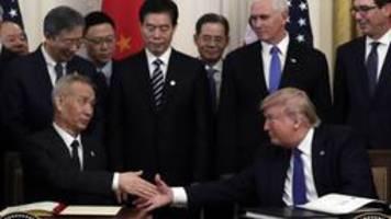 Handelsstreit: USA und China unterzeichnen Teilabkommen