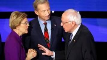 TV-Debatte:  Warren und Sanders liefern sich Schlagabtausch