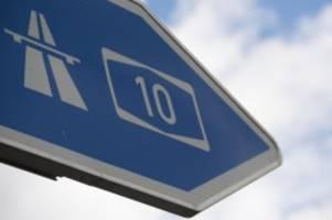 verkehr: berliner ring zum wochenende am dreieck pankow gesperrt
