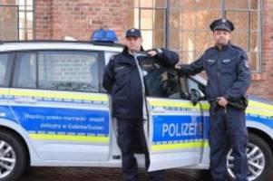 Polizei: Deutsch-polnisches Polizeiteam geht gemeinsam auf Streife