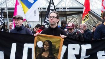 proteste gegen rentenreform: pariser louvre wegen streiks geschlossen