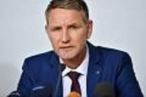 größerer einsatz ausgelöst - verdächtiges päckchen gefunden: unbekannte schicken afd-mann höcke windel mit urin
