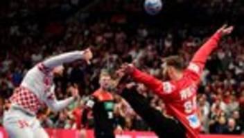 Handball-Europameisterschaft: Deutschland verliert gegen Kroatien
