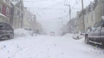 Video: Heftiger Schneesturm in Kanadas östlichster Provinz