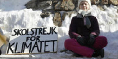 proteste gegen weltwirtschaftsforum: klima-protest in davos