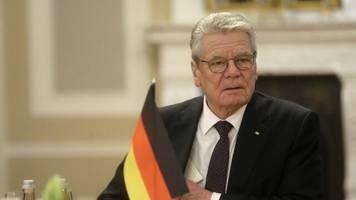 minderheitsregierung: gauck empfiehlt cdu begrenzte duldung einer linken-regierung in thüringen