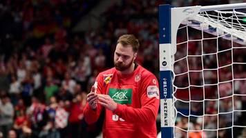 Niederlage gegen Kroatien - Trotz Weltklasse-Wolff: Deutsche Handballer vor EM-Aus