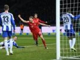 Hertha BSC ist gegen den FC Bayern ohne Chance