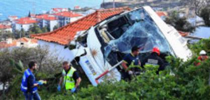 29 tote auf madeira: busfahrer war völlig übermüdet
