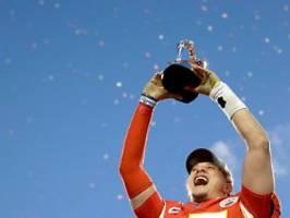 Mahomes nicht zu stoppen: Kansas City steht im Super Bowl