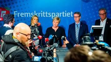 regierungskrise: nach streit um is-rückkehrerin: rechtspopulisten verlassen regierung in norwegen
