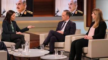 anne will: so weit waren wir noch nie: müder maas preist ergebnis der libyen-konferenz