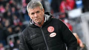 fortuna düsseldorf: klub soll trainer funkel ultimatum gestellt haben