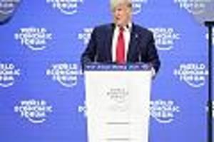 Weltwirtschaftsforum in Davos - Kein Wort zu Klimaschutz: Mit Selbstlob-Rede wendete sich Trump an 2 Adressaten