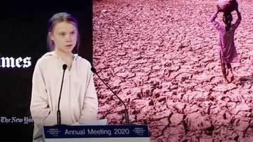 Weltwirtschaftsforum in Davos: Greta Thunbergs Rede im Video: Die Welt steht in Flammen