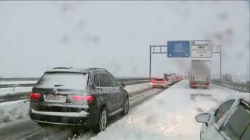 video: sturm bringt schnee nach spanien