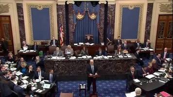 Video: US-Senat tritt zum Amtsenthebungsverfahren gegen Trump zusammen