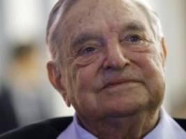 Investor Soros in Davos: Die Welt ist schlecht, hier ist eine Milliarde Dollar