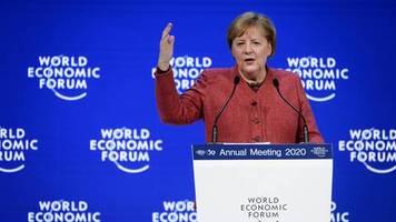 Davos 2020: Klimaschutz könnte eine Frage des Überlebens sein - Merkel mahnt zur Zusammenarbeit