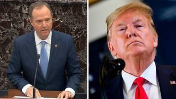 Impeachmentverfahren: Chefankläger Schiff wirft Trump im Eröffnungsplädoyer auch schwere Vertuschungsversuche vor