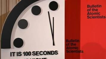 Weltuntergangsuhr steht nur noch 100 Sekunden vor Mitternacht